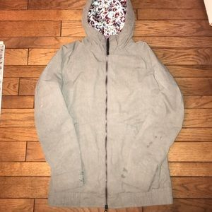 Woman's olive green Burton winter jacket
